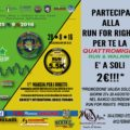 Partecipa a RUN FOR RIGHT: Quattromiglia for the TE is at 2 €!