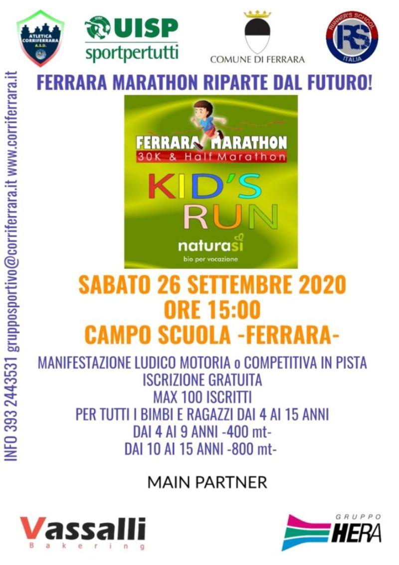 """<h1><strong>SABATO, 26 SETTEMBRE 2020</strong><br>Ore 15.00<br><br>Campo Scuola<br>Via Porta Catena 81, Ferrara<br><br> -ISCRIZIONE GRATUITA- <br>Max 100 posti.<br><br><strong><a href=""""https://www.corriferrara.it/?page_id=5357"""">> DETTAGLI E ISCRIZIONI</a></strong></h1>"""